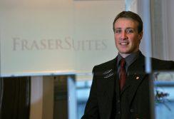 Multi lingual concierge Rudy Crane earned valuable hotel PR for Fraser Suites