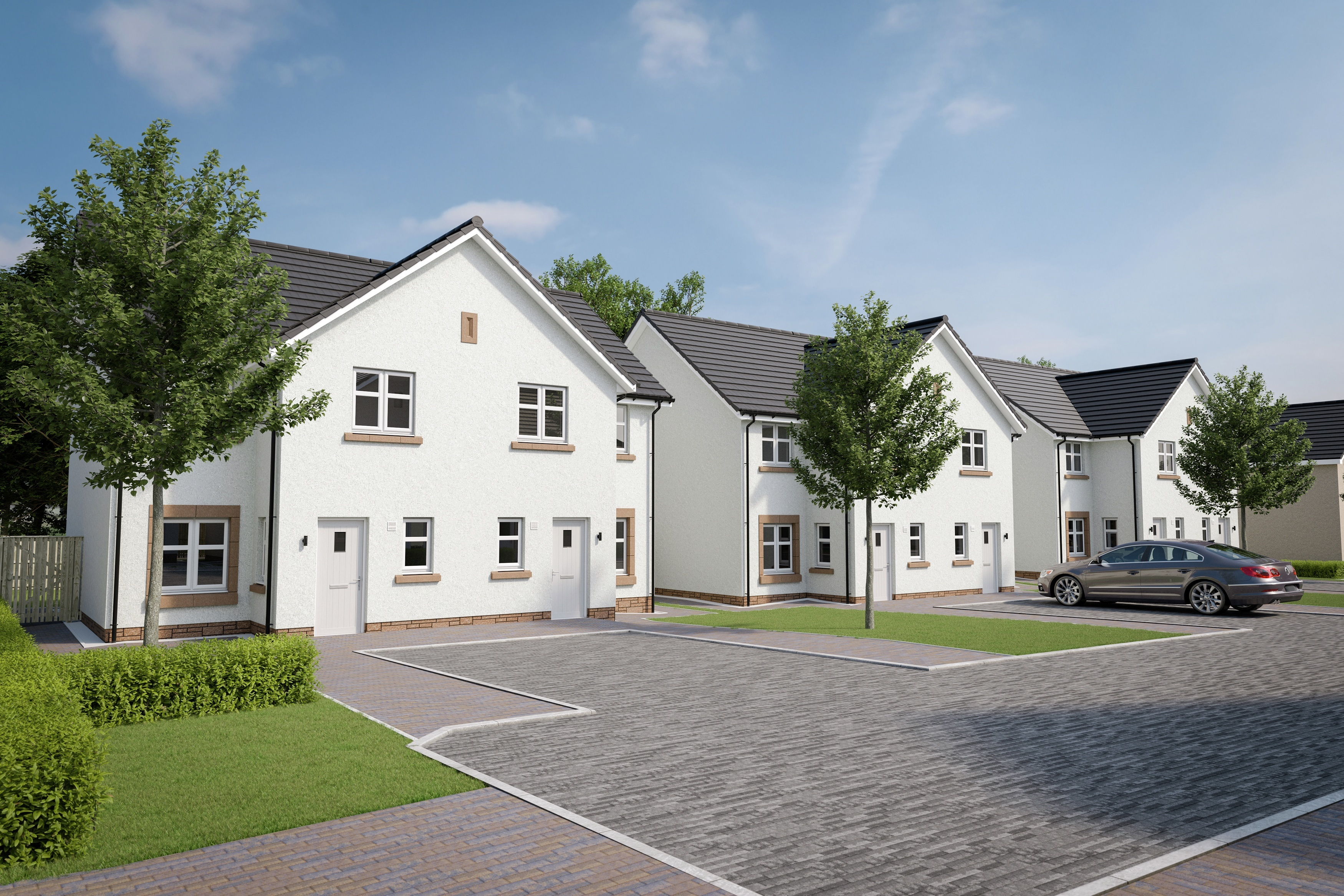 "Property PR photograph of CALA Homes ""Golden Share"" affordable properties in Balerno."