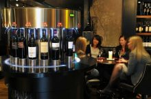 Visitors to Edinburgh's Divino Enoteca are captured enjoying a drink in a Bar and Restaurant PR image