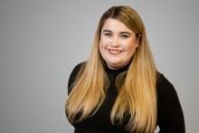 PR photograph of Caitlyn Dewar, an intern at an Edinburgh PR agency, Holyrood PR.