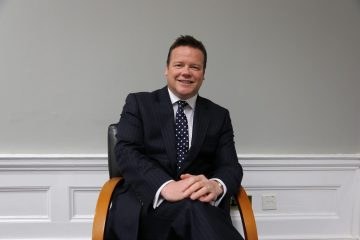 Property PR photography of Matthew Gray from law and property firm Gilson Gray. He works with property PR experts from Holyrood PR to share property market trends and insights
