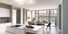 Property PR image of an apartment at CALA Homes The Crescent overlooking the former Donaldson's College building