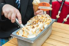 Mackie's 19.2's napoli of Haggis and Marmalade Ice Cream in a Food and Drink PR Photo
