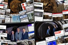 Four montages display the success of tech PR in devlivering record breaking coverage for Edinburgh based Skyrora on the return of the Black Arrow to the UK