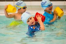 PR Photography image of children participating in Learn to Swim programme