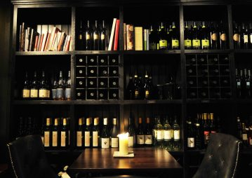 A food and drink PR image showing a selection of wine availiable at Divino Enoteca