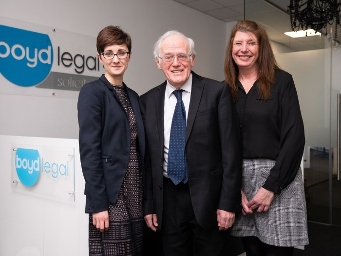 a legal PR image of staff members at Boyd Legal's new fife office