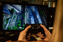 A gamer plays an online game after cyber experts warn of increased cyber-attacks