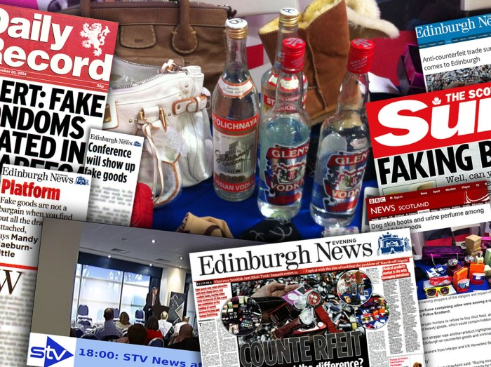 Tech PR montage of coverage secured for SBRC's anti-illicit trade summit