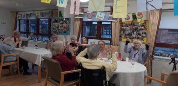 Retirees enjoy their developments 20th birthday, captured by Scottish PR