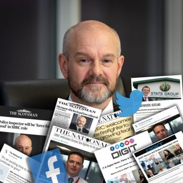 A sweeping collage of the media coverage and social media highlights following the appointments of two senior leaders, from Police Scotland and SFRS by the SBRC, Gary Wood and Gary Ritchie