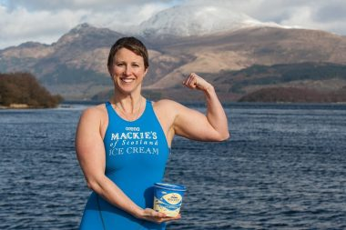 Jade Perry is pictured at Loch Lomond at Luss, Scotland captured by Food and Drink PR photography.