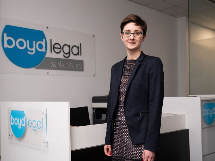Legal PR photography to support the news of Kelly Matthews joining Boyd Legal
