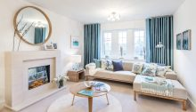 Property PR photo captures CALA Blackadders in North Berwick, lounge area in one of the homes