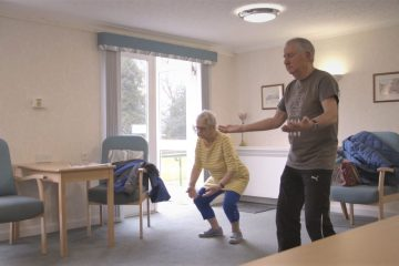 Tenants at Bield's Shiell Court practice Tai Chi | Charity PR