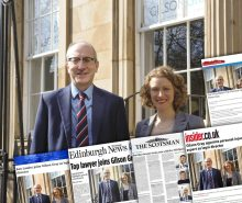 Legal PR photography of Ken Lauder's appointment to Gilson Gray