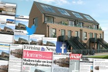 A montage of media coverage for CALA Homes colonies at Waterfront Plaza. Property PR