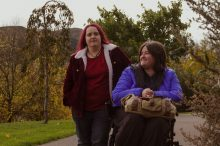 Edinburgh PR shares a photograph of Karine and Sarah Mather taken by Amber Brown of CollectiveF8 as part of Paths for All Humans of the Walk exhibition