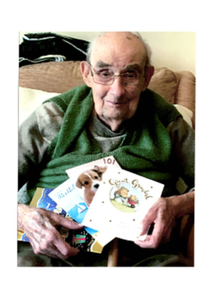 Bield Resident Pat Mills on his 101st Birthday, brought to you by Charity PR specialists Holyrood PR.