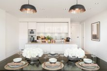 Property PR photography shows luxury kitchens at The Crescent at Donaldson's by CALA Homes (East)