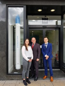 Tech PR photography of Edinburgh Lord Provost Frank Ross during his visit to the Skyrora office in Edinburgh