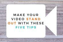 PR video tips from Edinburgh PR agency