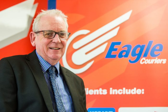 Scottish PR photograph of Eagle Couriers Director Jerry Stewart