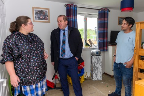 MSP Graeme Dey opens Cairn Housing Associaition's latest development in Arbroath