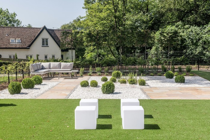 Property PR photography shows landscaped gardens at The Crescent development by CALA Homes (East)