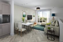 Property PR image shows CALA Homes' (East) new development in Leith, Waterfront Plaza, which is due to launch in July 2019