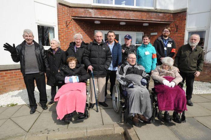Charity PR photograph of Beechwood Care Home Health Walk in Wishaw, North Lanarkshire