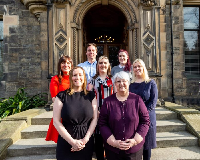 Image shows the team at Domus, University of Edinburgh's private lettings team - which has seen its stock of housing grow to 300+   Scottish PR