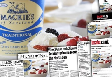 Food and Drink PR success as Mackies ice cream travels offshore