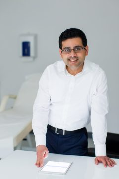 ealth PR photography of cosmetic expert Dr Q