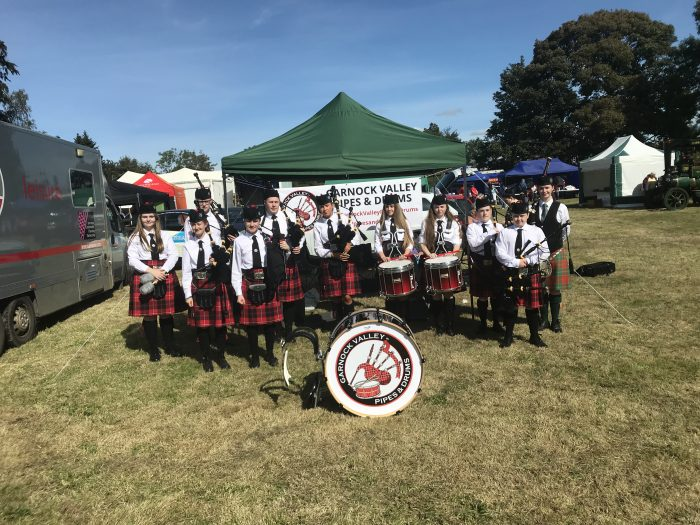 Scottish PR photograph of Garnock Valley Pipe Band