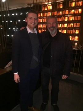 Cameron from Holyrood PR alongside Man Utd legend Brian McClair at the Pier Brasserie launch event | Restaurant PR