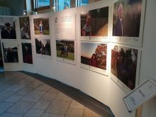 Charity PR Photograph of Paths for All Photography Exhibition in the Scottish Parliament