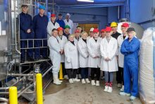 An image of Mackie's of Scotland's staff, within the ice cream factory at its farm in Aberdeenshire | Food and Drink PR