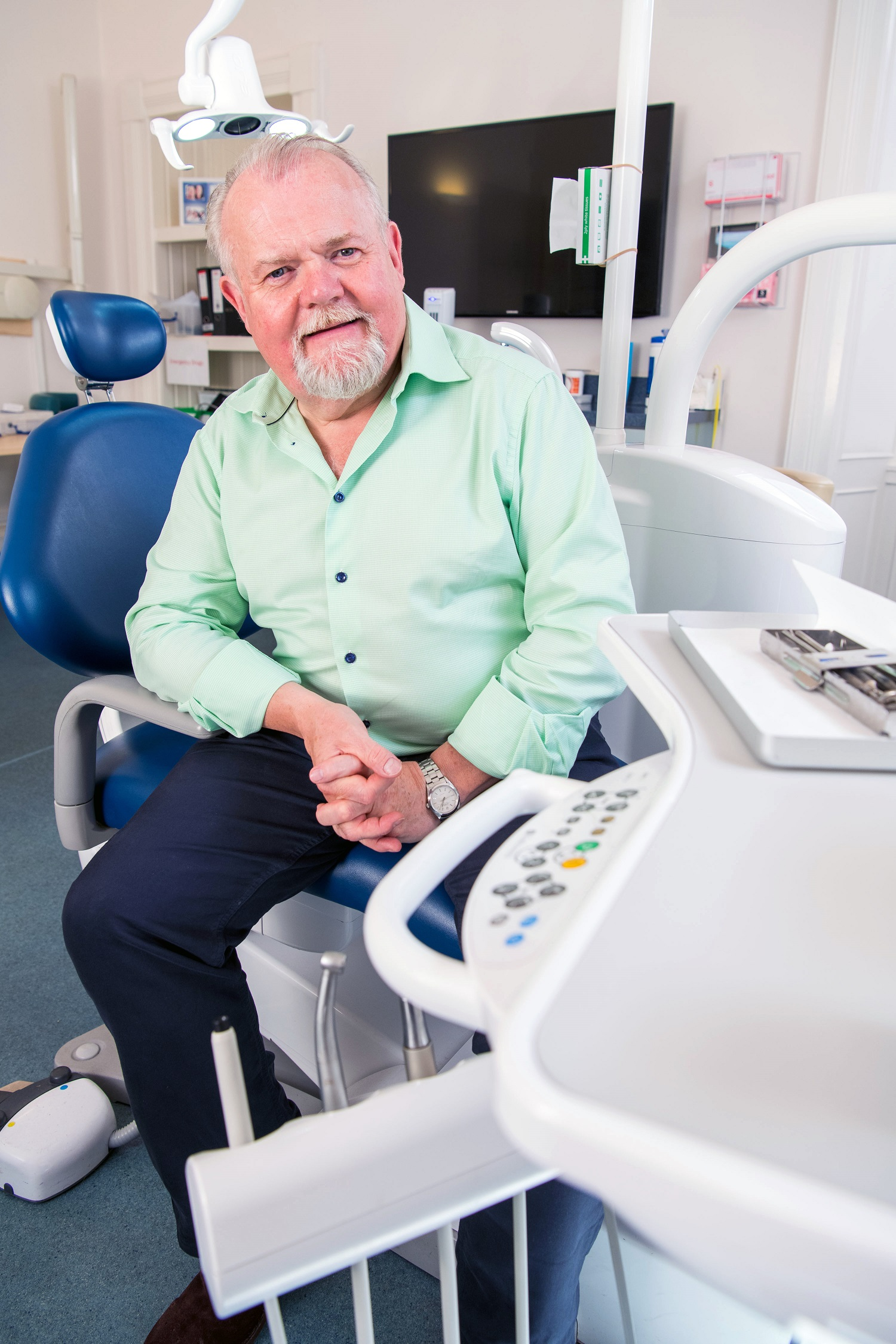 Health PR PR photograph of Jim Hall, founder of Clyde Munro dental group