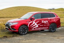 Eagle Couriers electric hybrid vehicle - PR photography