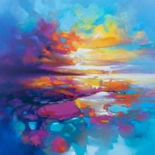 Art by landscape artist Scott Naismith - for Scottish PR agency