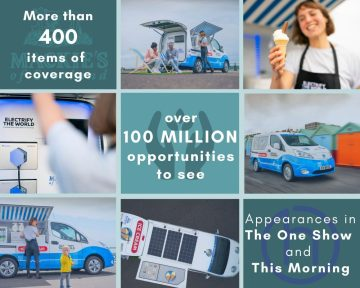Mackie's and Nissan's No ICE ice cream van collaboration success post visual