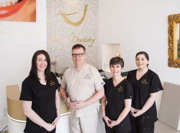 Art of Dentistry team captured in health PR photography