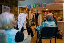Social Care PR photography fringe performer at Cramond residence by Holyrood PR Edinburgh
