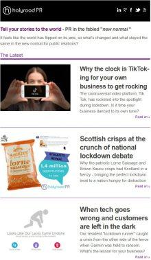 Scottish PR Holyrood PR Edinburgh Newsletter 31 August 2020