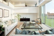 Living area at The Crescent by CALA © ZACandZAC