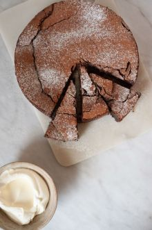 Food and Drink PR photography chocolate Torte by Flora Shedden and Mackie's of Scotland
