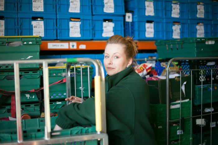 Tech PR photography Bethany Biggar - Edinburgh Food Project donation made by capital document solutions