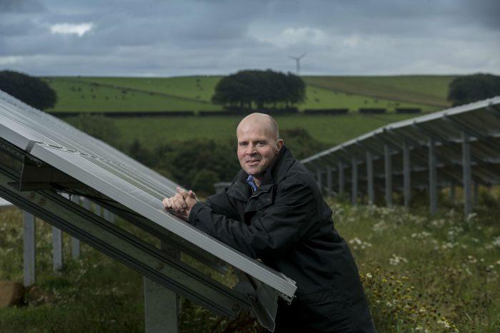 Scottish PR photography Mackie's Solar Panel