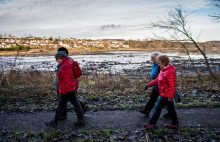 Health PR photography winter walking family, Paths For All Winter Walking Campaign